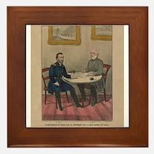 currier ives 19th century illustration Framed Tile