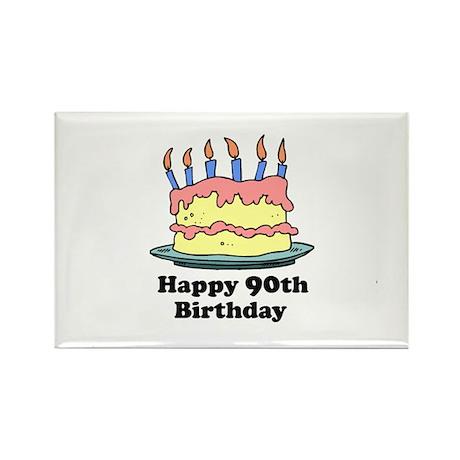 Happy 90th Birthday Rectangle Magnet