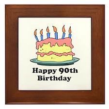 Happy 90th Birthday Framed Tile