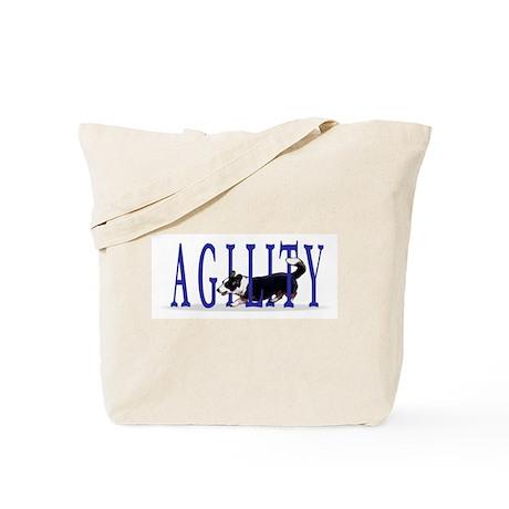 Tri Cardigan Corgi Agility Tote Bag