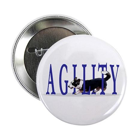 Tri Cardigan Corgi Agility Button