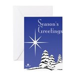 Masonic Star Holiday Greeting Card