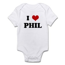 I Love PHIL Infant Bodysuit