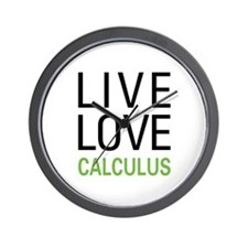 Live Love Calculus Wall Clock