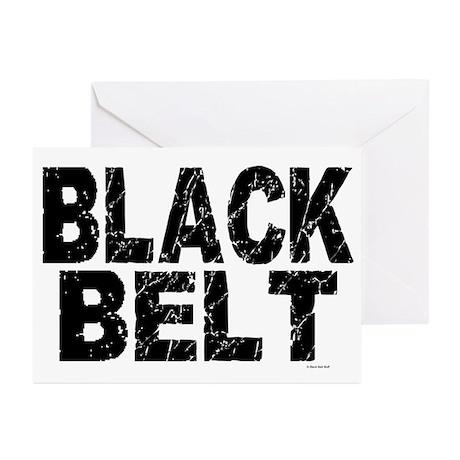 BLACK BELT - WEATHERED 1 Greeting Cards (Pk of 20)