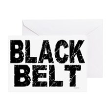 BLACK BELT - WEATHERED 1 Greeting Card