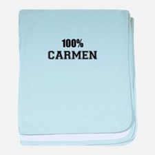 100% CARMEN baby blanket
