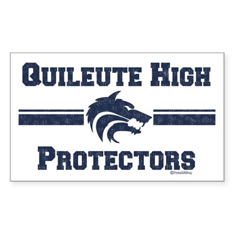 Quileute High Protectors Rectangle Sticker