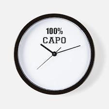 100% CAPO Wall Clock