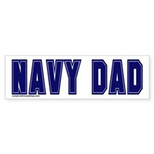 Navy dad Bumper Bumper Sticker