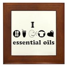 essential oil love Framed Tile
