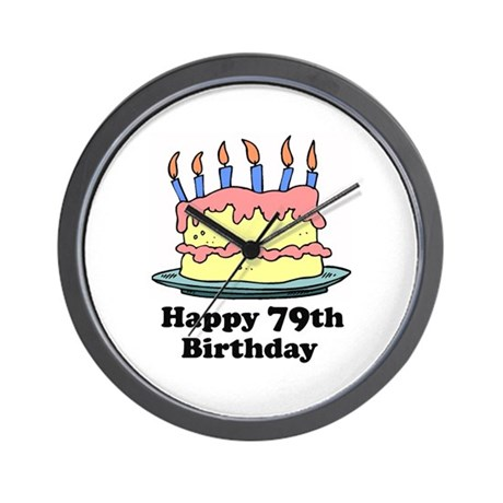 Happy 79th Birthday Wall Clock