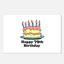 Happy 79th Birthday Postcards (Package of 8)