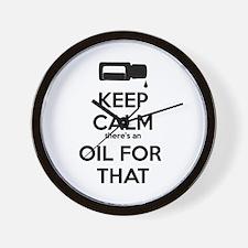 Cute Oil Wall Clock