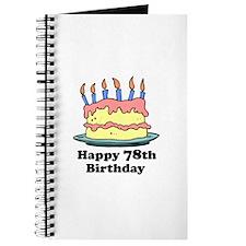 Happy 78th Birthday Journal