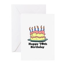 Happy 78th Birthday Greeting Cards (Pk of 20)