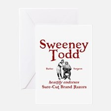 Sweeney Todd Greeting Card