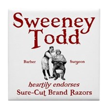 Sweeney Todd Tile Coaster