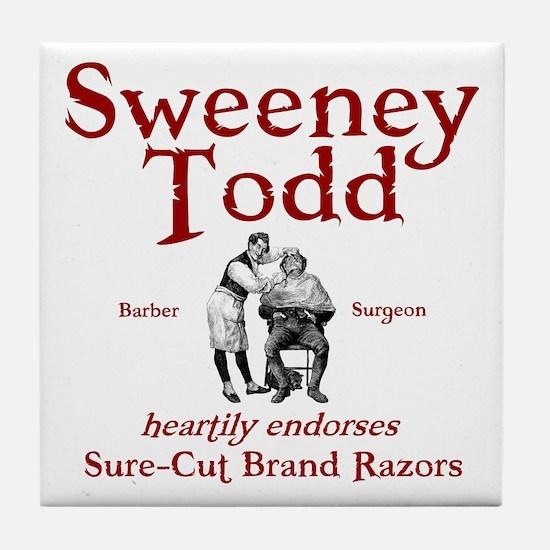 Sweeney Todd Tile Coaster