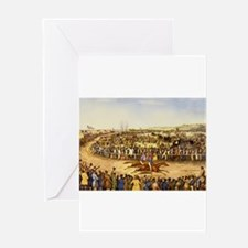 horse racing Greeting Cards