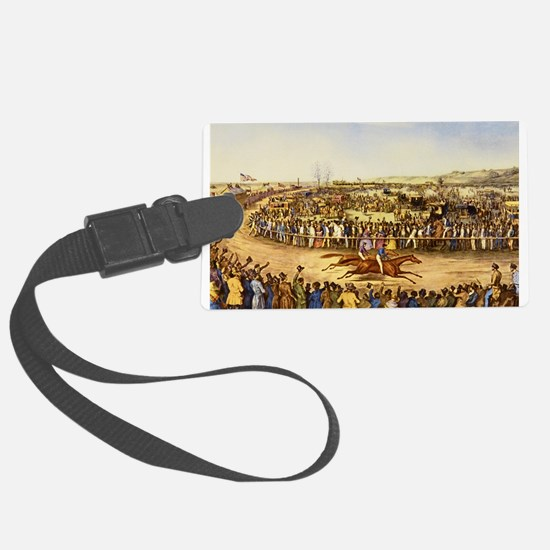 horse racing Luggage Tag