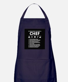 Reasons To Date A Chef Apron (dark)