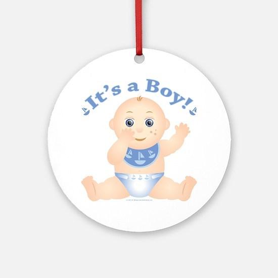 "* It's a Boy! "" Ornament (Round)"