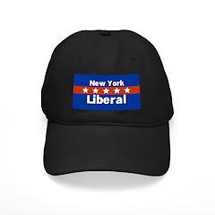 New York Liberal Black Baseball Cap