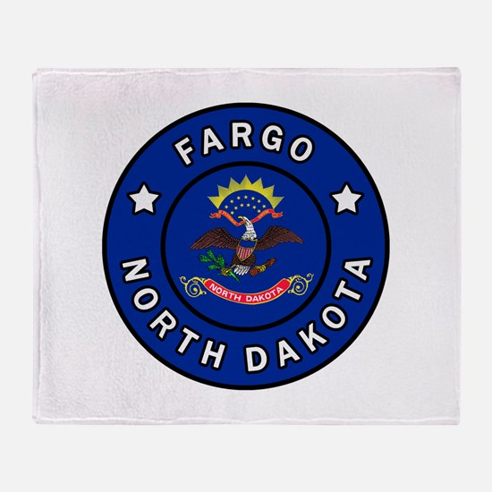 Fargo North Dakota Throw Blanket
