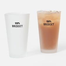 100% BRIDGET Drinking Glass