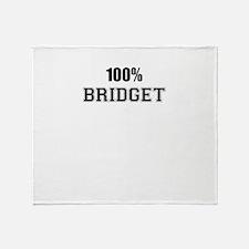 100% BRIDGET Throw Blanket