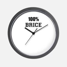 100% BRICE Wall Clock