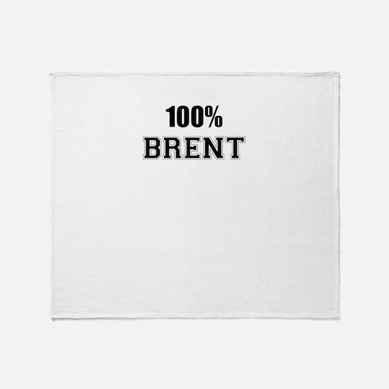 100% BRENT Throw Blanket