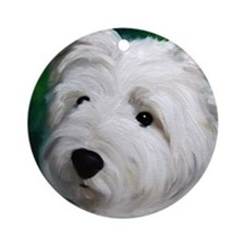 WEST HIGHLAND TERRIER DOG Ornament (Round)