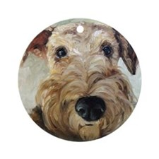 Airedale Terrier DOG Ornament (Round)
