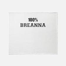 100% BREANNA Throw Blanket