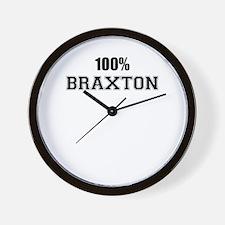 100% BRAXTON Wall Clock