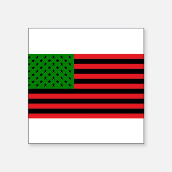African American Flag - Red Black and Gree Sticker