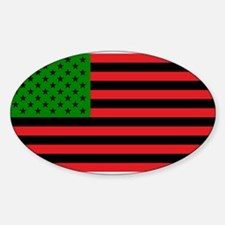 African American Flag - Red Black and Gree Decal