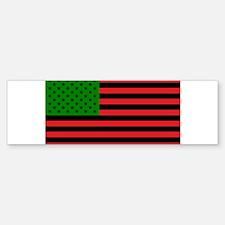 African American Flag - Red Black a Bumper Bumper Bumper Sticker