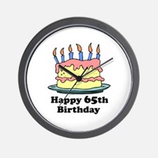Happy 65th Birthday Wall Clock
