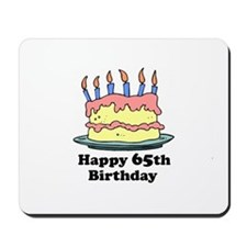 Happy 65th Birthday Mousepad