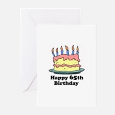 Happy 65th Birthday Greeting Cards (Pk of 20)