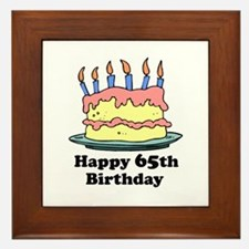 Happy 65th Birthday Framed Tile