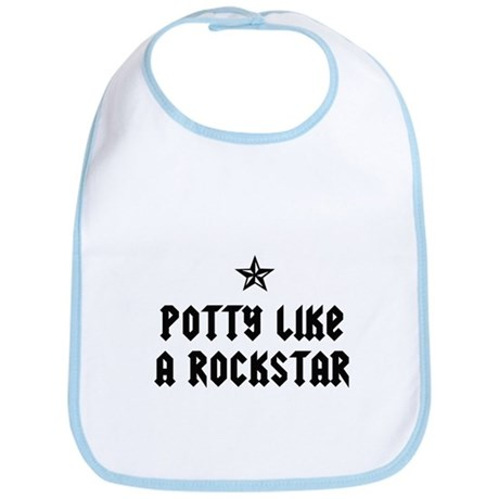 Potty Like a Rockstar Bib