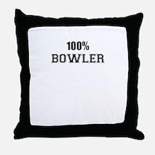 100% BOWLER Throw Pillow