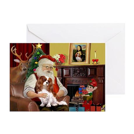 Santa's Cavalier (BL) Greeting Cards (Pk of 20)