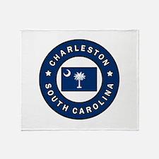 Charleston South Carolina Throw Blanket