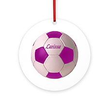 Larissa soccer ball Ornament (Round)