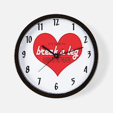 Break a leg Wall Clock